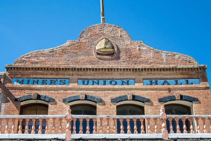 Virginia City Nevada, union Hall de mineurs image libre de droits