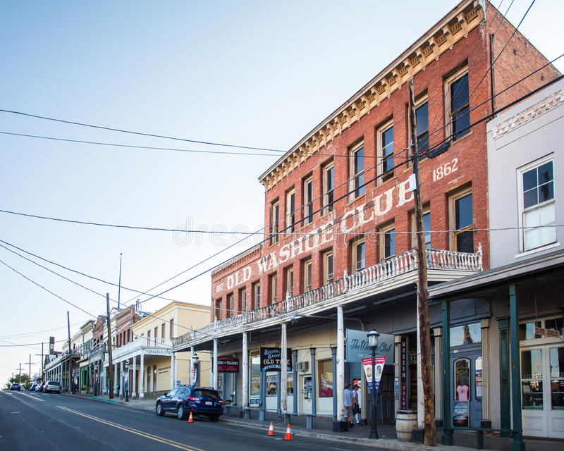 Virginia City Nevada Western Town photo stock