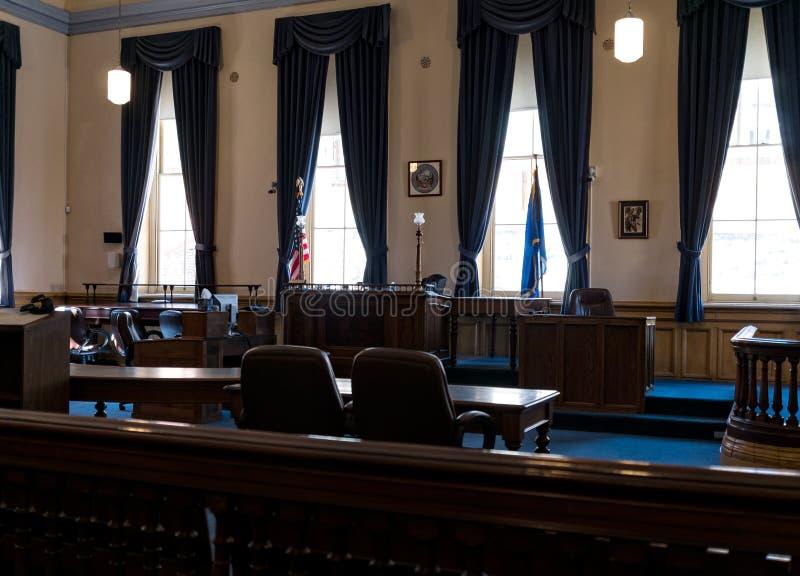 Virginia City, tribunal du Nevada, le comté de Storey images libres de droits
