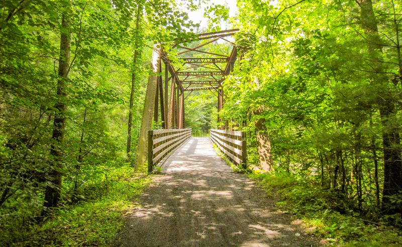 Virginia Creeper Trail perto de Damasco, Virgínia imagens de stock royalty free