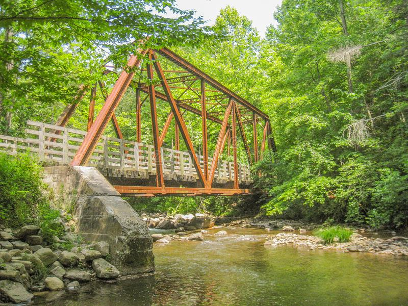 Virginia Creeper Trail près de Damas, la Virginie photographie stock