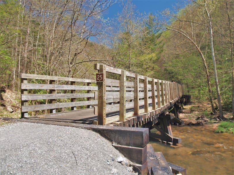 Virginia Creeper Trail Wooden Trestle photos libres de droits