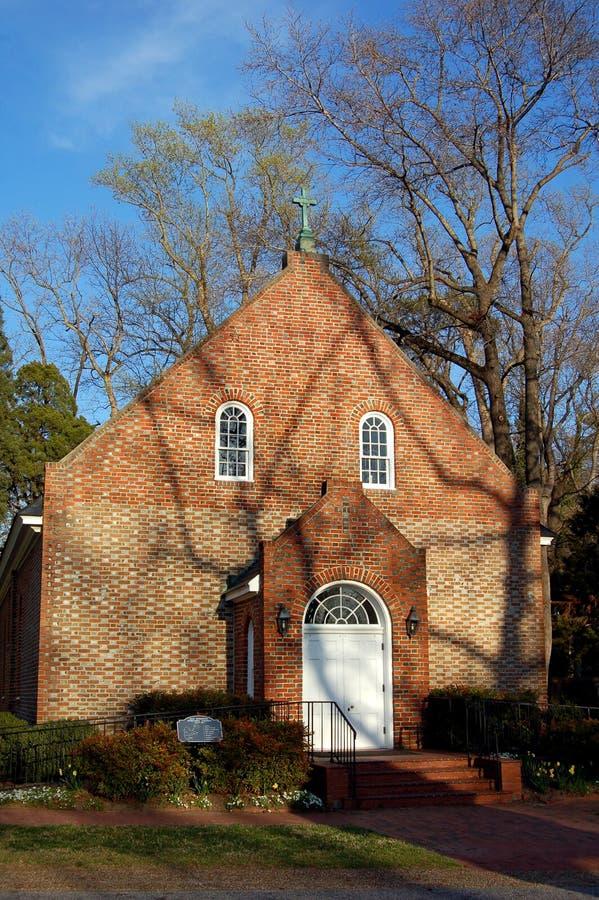 Virginia: De oude Bisschoppelijke Kerk van de Heerschappij stock afbeelding