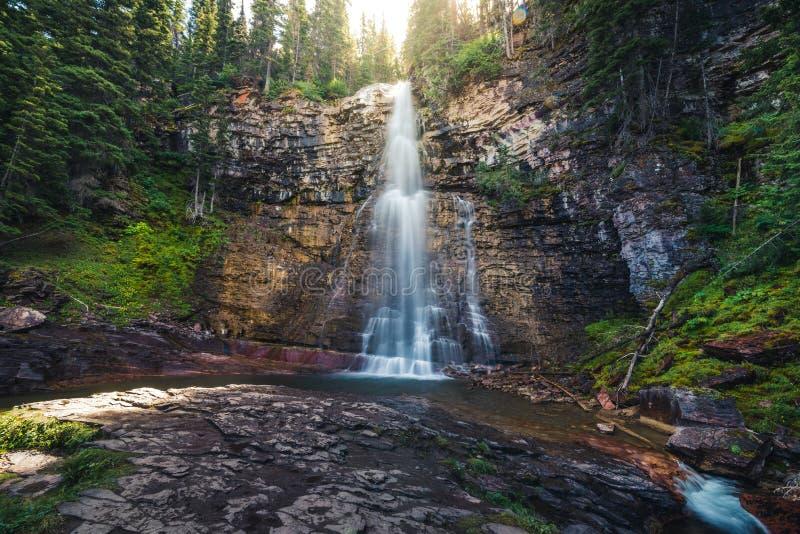 Virginia Falls, parque nacional de geleira, Montana, EUA fotografia de stock royalty free