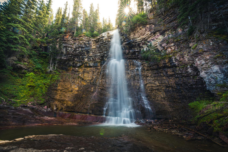 Virginia Falls, parque nacional de geleira, Montana, EUA fotos de stock royalty free
