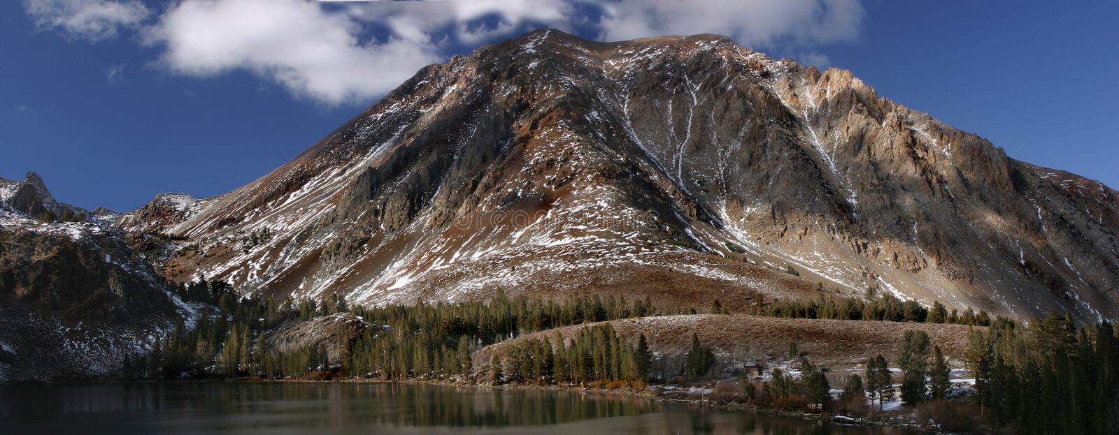Virginia Lakes in the Sierra Nevada. The eastern Sierra towers over Virginia Lakes stock photography
