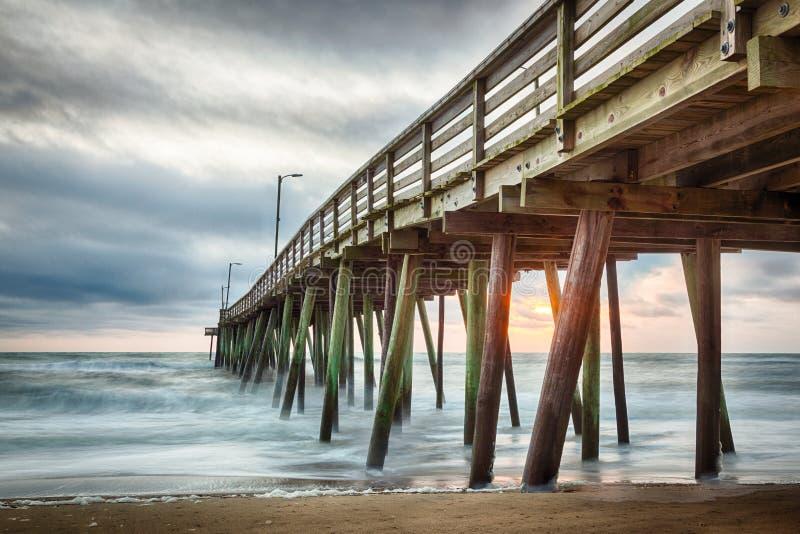 Virginia plaży połowu molo fotografia stock