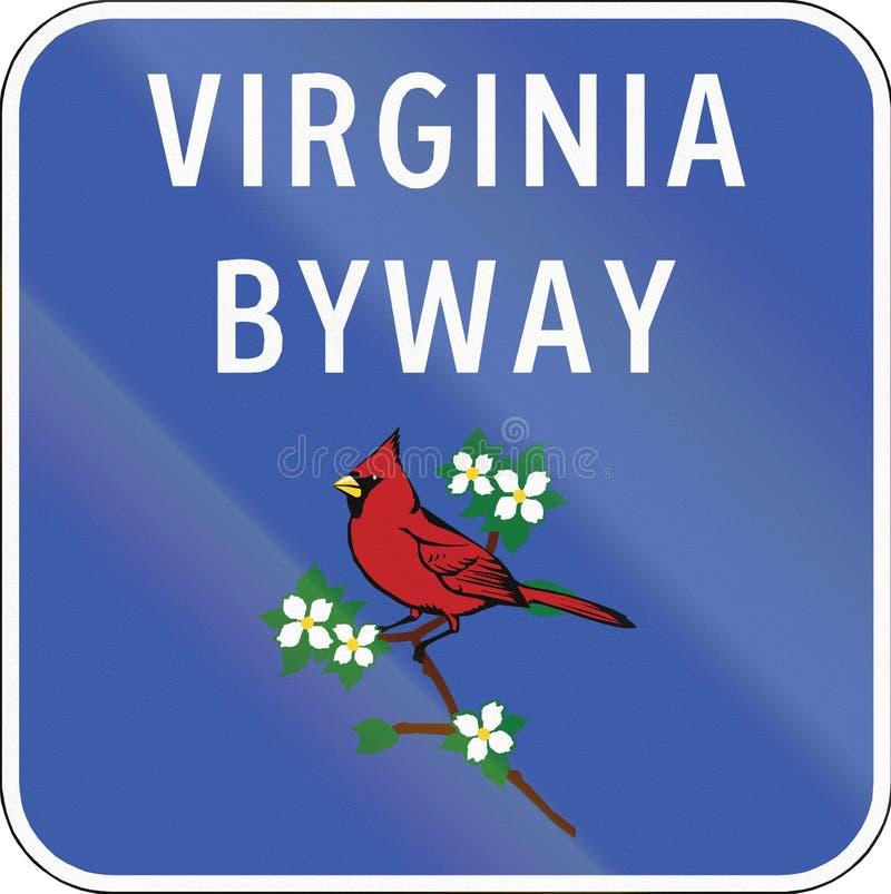 Virginia Scenic Byway ilustração do vetor