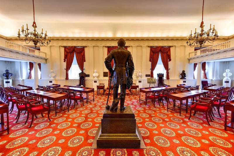 Virginia State Capitol - Richmond, Virginia arkivbilder