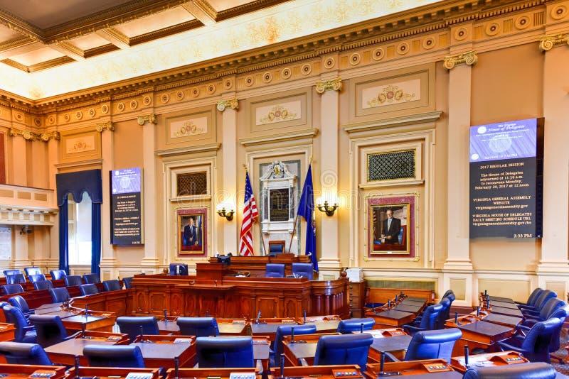 Virginia State Capitol - Richmond, Virginia arkivfoton