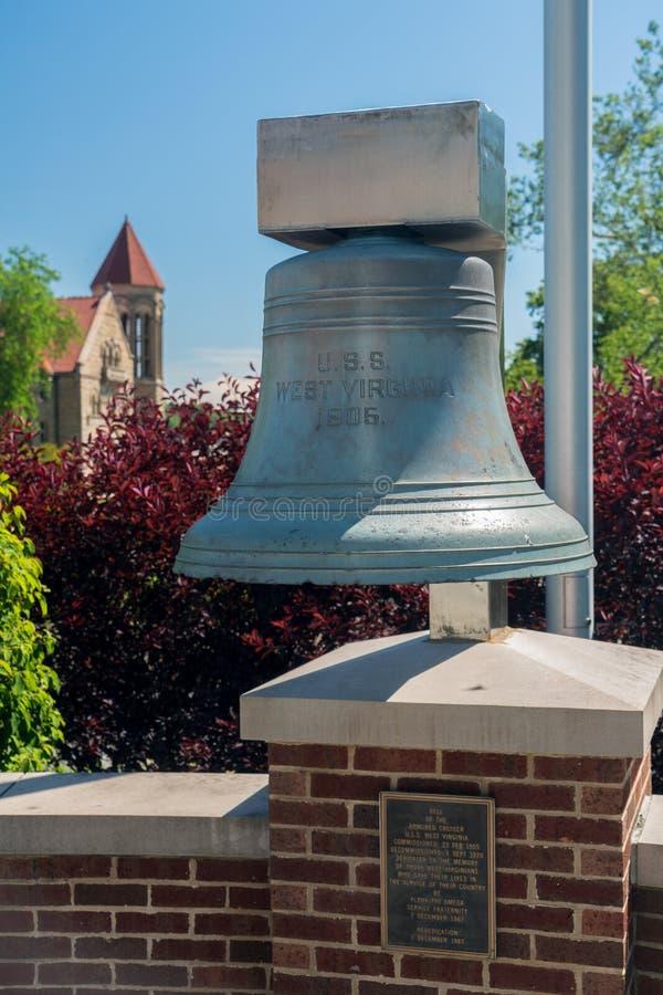 Virginia University ad ovest a Morgantown WV fotografia stock libera da diritti