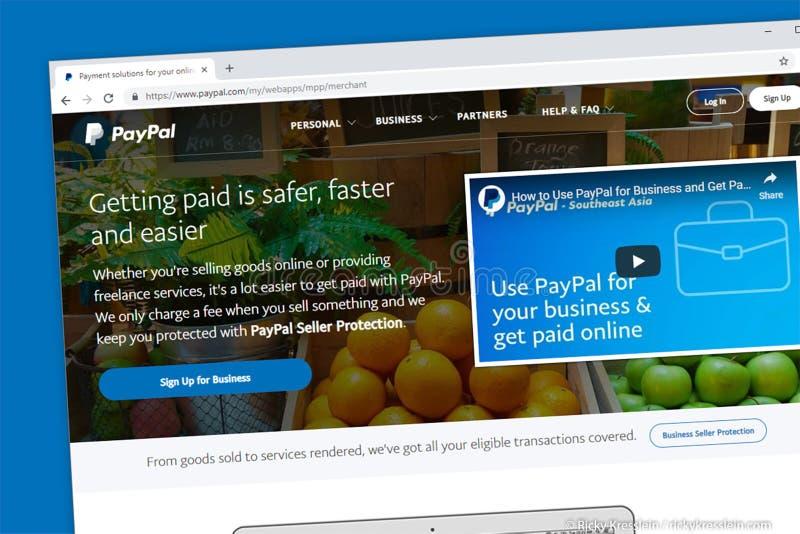 Paypal Website Homepage. Virginia, USA - November 13, 2018 - Paypal website homepage royalty free stock image