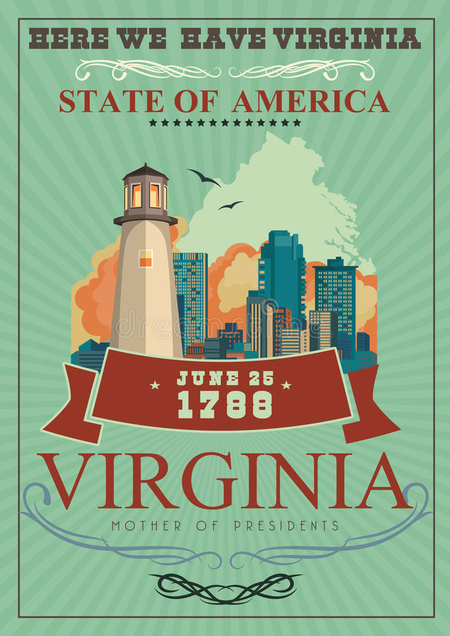Virginia vector american poster here we have virginia stock vector download virginia vector american poster here we have virginia stock vector illustration of location m4hsunfo