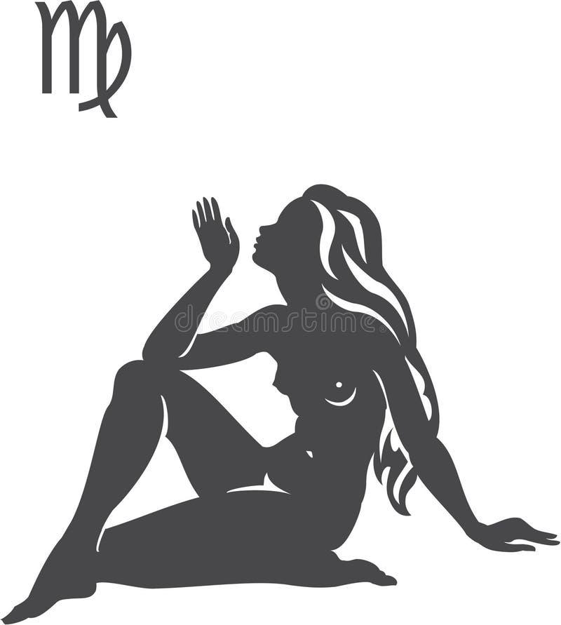 Virgo. Signs of the zodiac - Virgo royalty free illustration