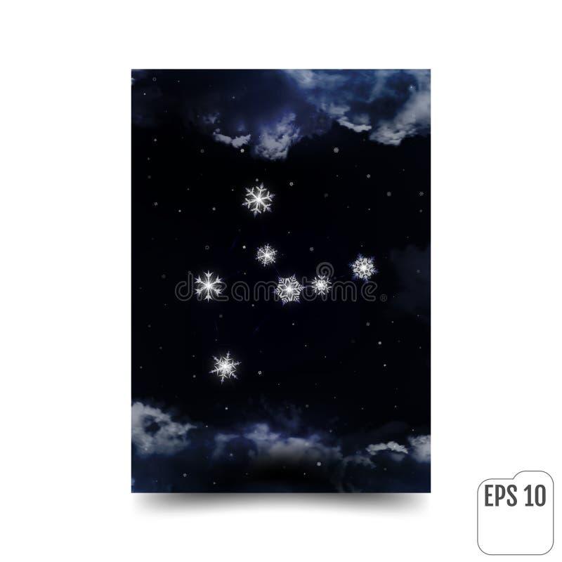 virgo Constelación de copos de nieve Virgo de la muestra del zodiaco Constella libre illustration
