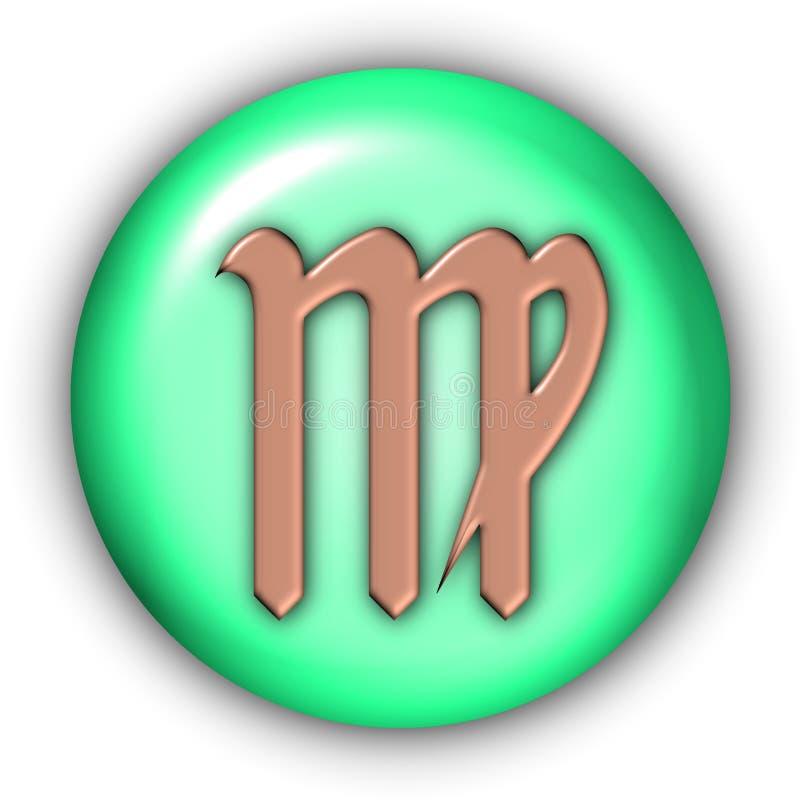Virgo Glyphs. Horoscope Glyphs Button - Virgo (Include Clipping Path vector illustration