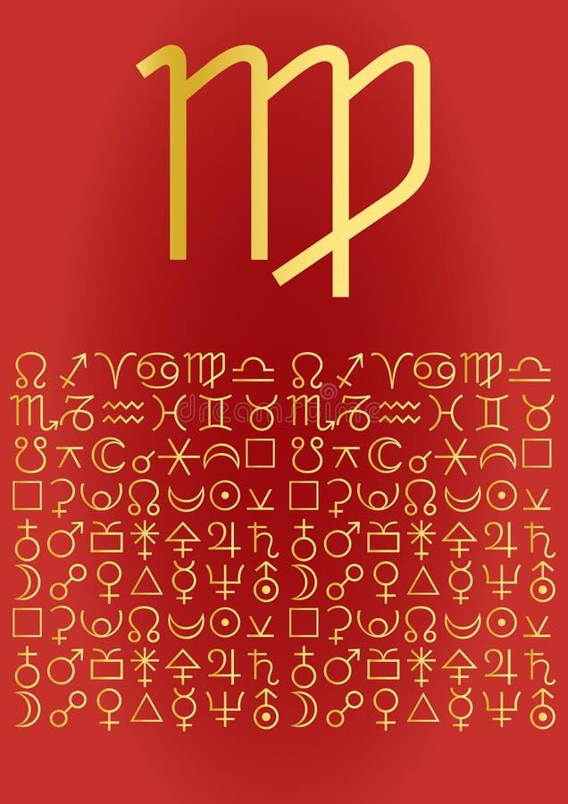 Virgo, greeting card royalty free illustration