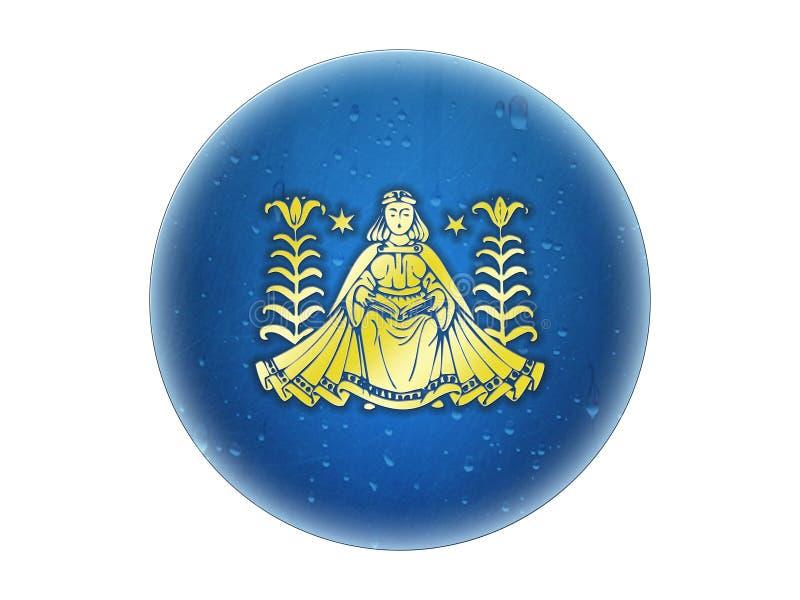 Virgo - muestra de oro del zodiaco libre illustration