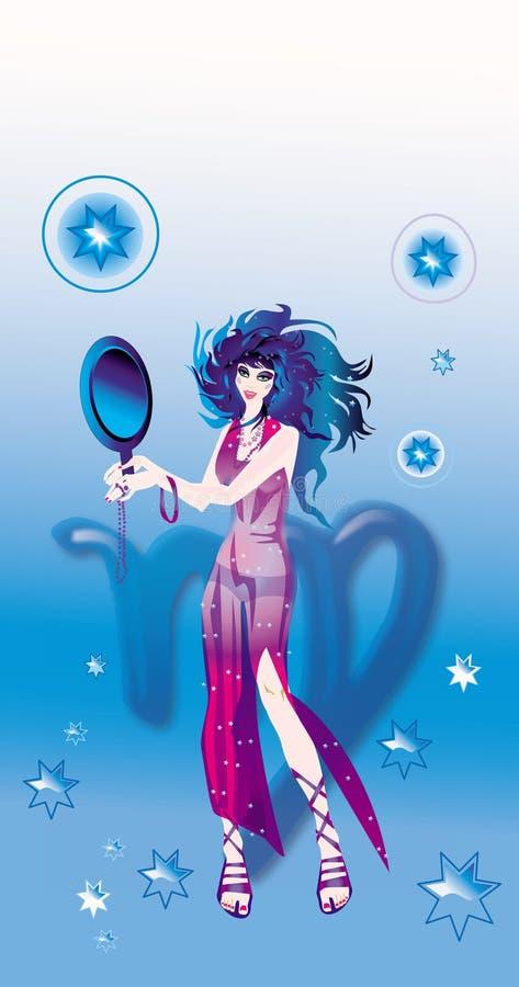 Virgo (segno di zodiaco) illustrazione di stock