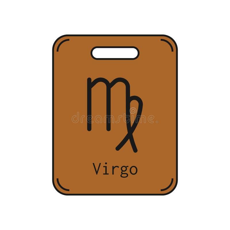 virgo Sinal do zodíaco Horóscopo e previsões lisos do símbolo Objeto do vetor ilustração do vetor