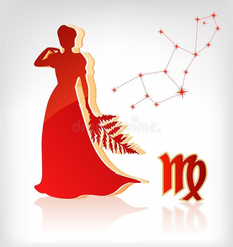 Virgo zodiac astrology icon for horoscope vector illustration