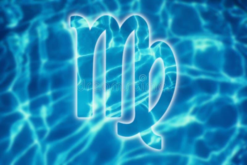 VirgoZodiac Sign,VirgoHoroscope, Summer Horoscope. Water stock image