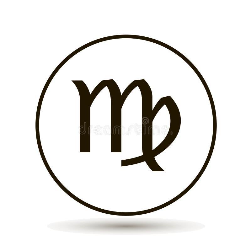 Virgo Zodiac Sign Astrological Symbol Icon In Circle Stock Vector