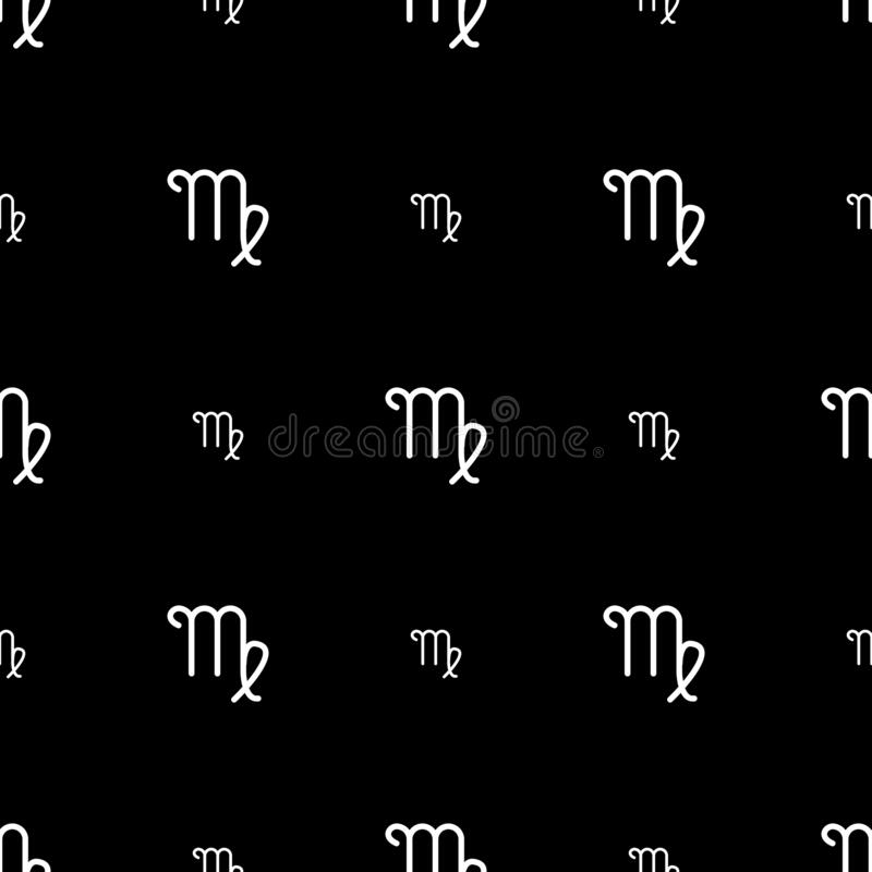 virgo zodiac sign horoscope seamless pattern texture wallpapers fabric wrap web page backgrounds vector illustration 170889076