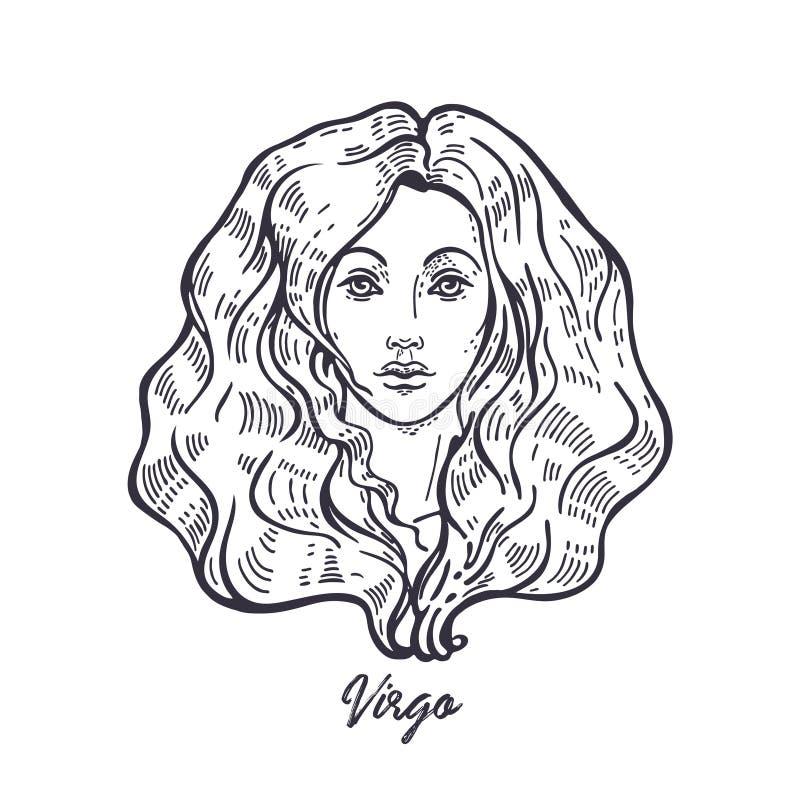 Virgo zodiac sign. The symbol of the astrological horoscope. vector illustration