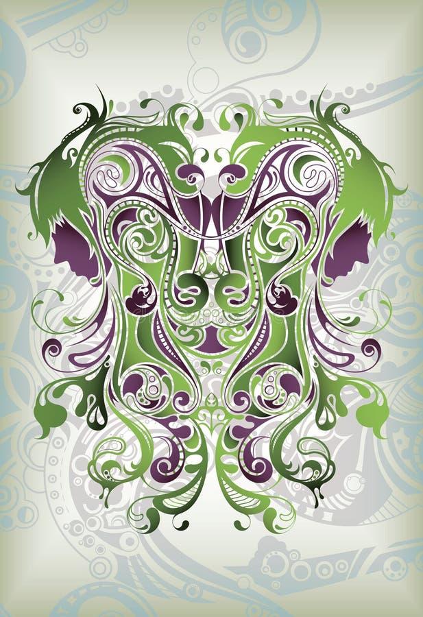 virgo zodiak royalty ilustracja