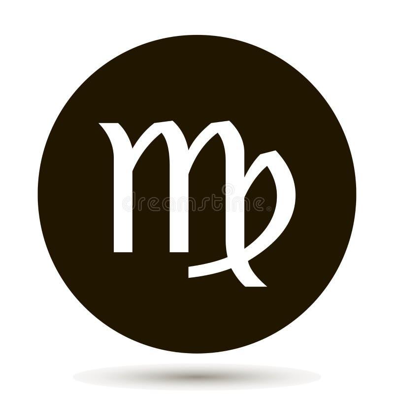 Virgo zodiaka znak Astrologiczna symbol ikona w okręgu royalty ilustracja