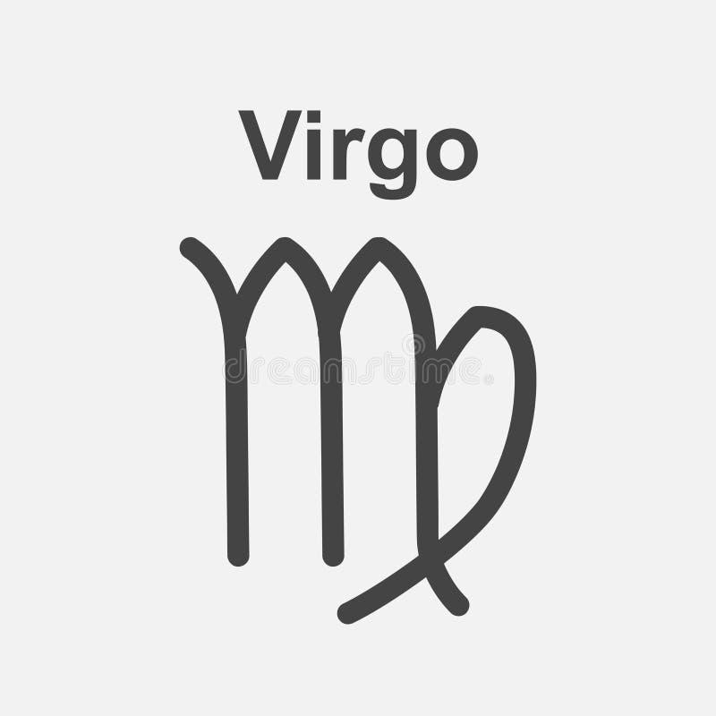 Virgo zodiaka znak Płaskiej astrologii wektorowa ilustracja na białym b ilustracji