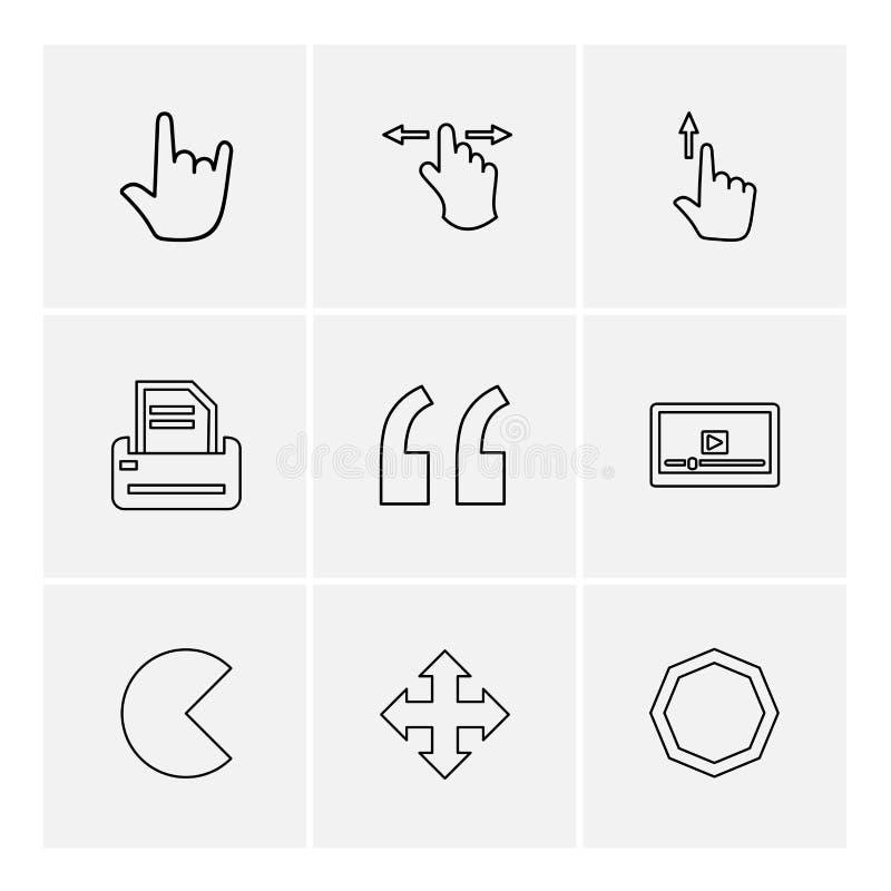 virgules, point, barre oblique, mains, indicateur, flèches, directions, illustration stock
