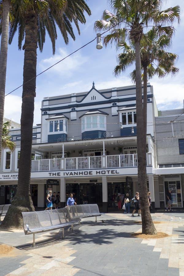 VIRIL, L'AUSTRALIE 16 DÉCEMBRE : L'hôtel d'Ivanhoe dans viril sur Decembe photos libres de droits