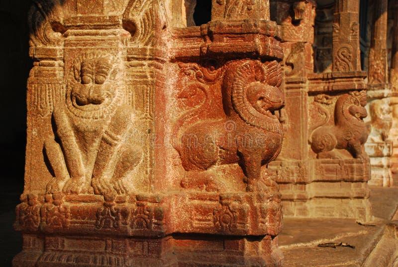Viripaksha temple, Hampi. Stone carvings royalty free stock image