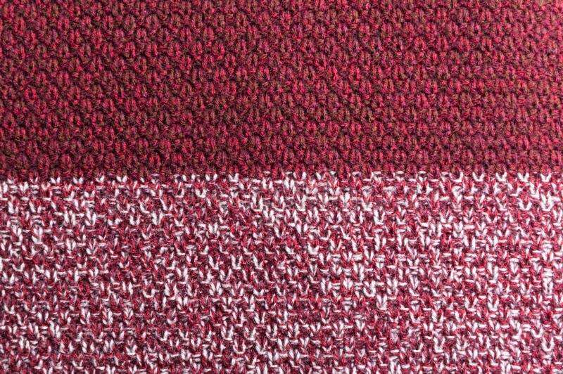 Virkad textur för Bourgogne ull eller patern royaltyfri foto