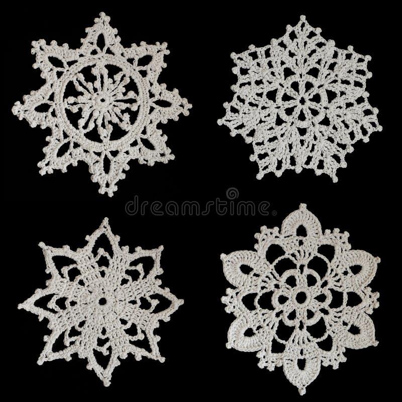 virkade snowflakes royaltyfri foto
