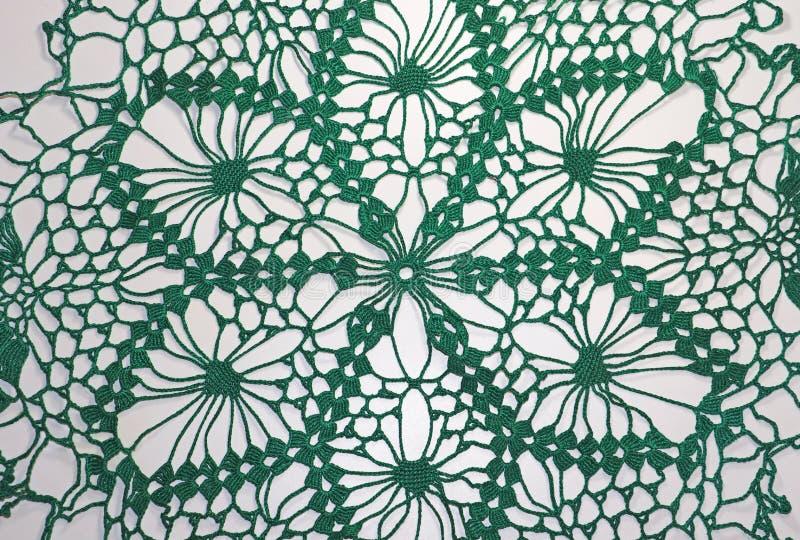 Virkat ett härligt grönt handgjort arkivbild