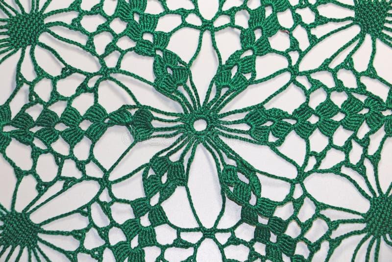 Virkat ett härligt grönt handgjort royaltyfri fotografi