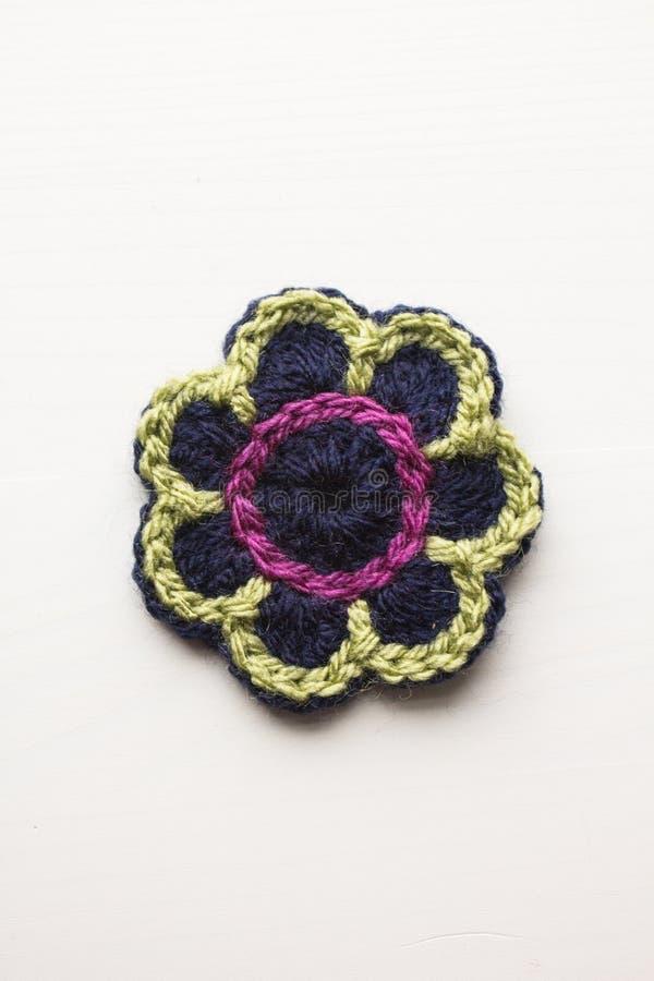 Virkning blommar i olika färger royaltyfri foto