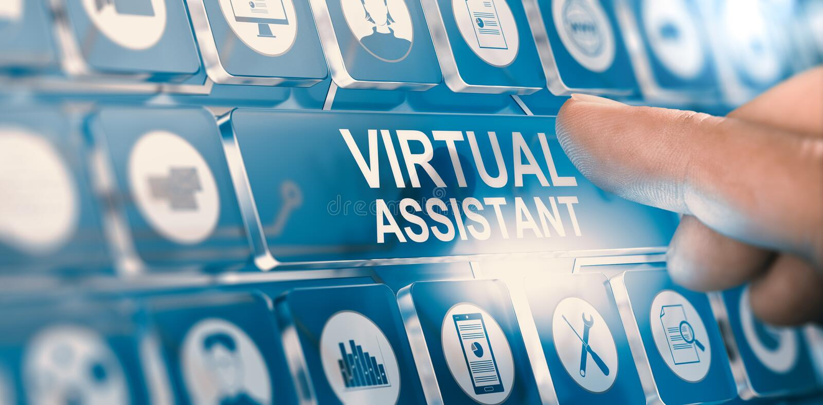 Virtual Assistant; Personal PA Services stock illustration