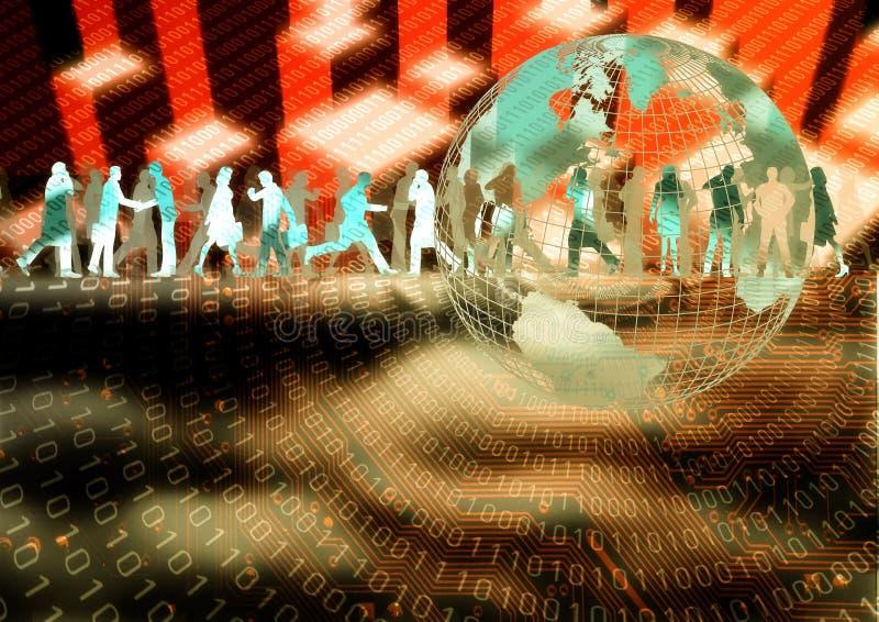 Virtual Business 06 royalty free illustration