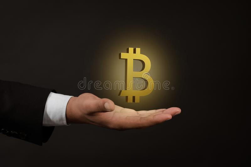 Virtual currency concept, bitcoin, abstract image visual.3d rendering. Virtual currency concept, bitcoin, FinTech, block chain abstract image visual stock image
