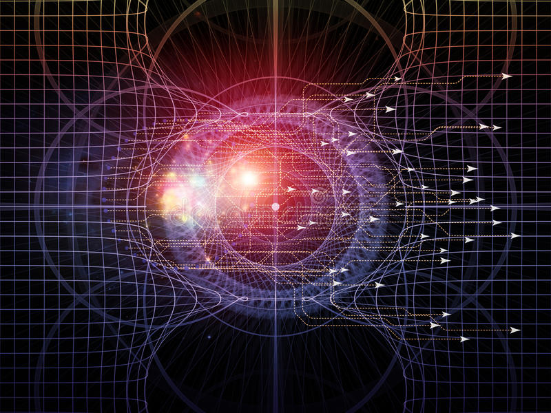 Download Virtual Geometry stock illustration. Image of light, fractal - 28884356