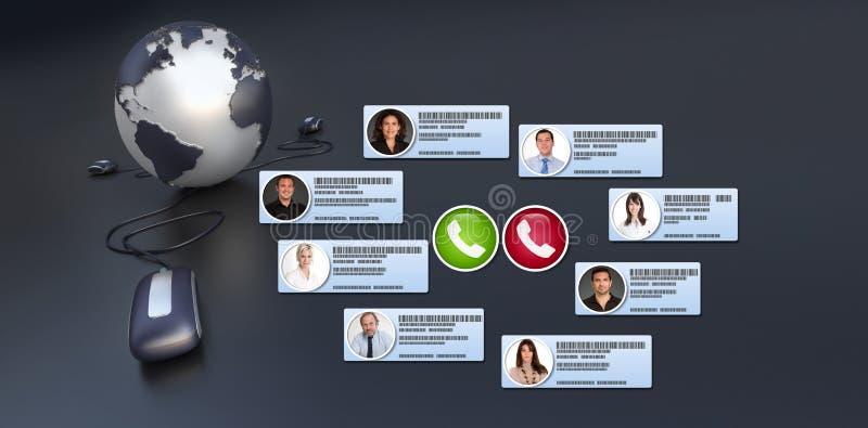 Virtual global  meeting royalty free stock photos