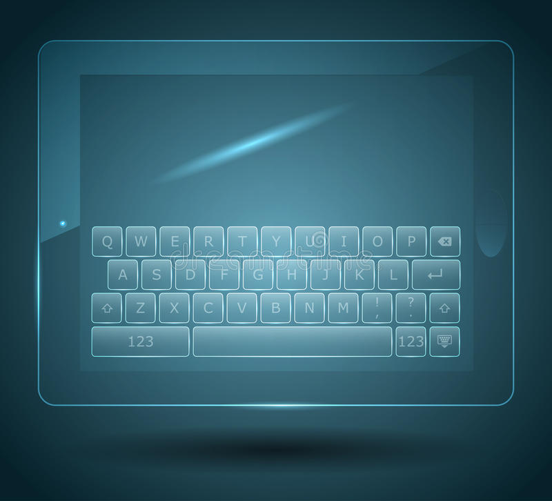 Download Virtual keyboard stock vector. Image of graphic, perspective - 26788910