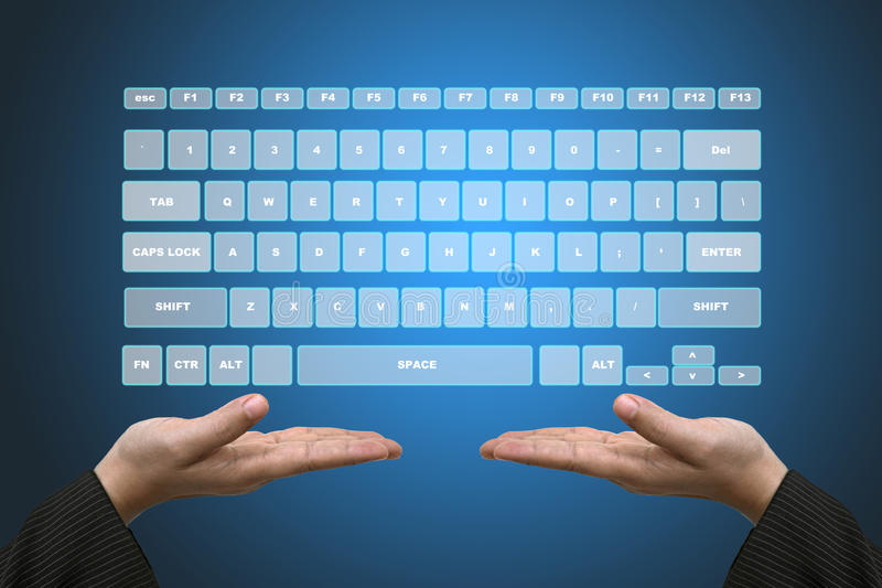 Download Virtual Keyboard Interface stock image. Image of innovation - 22752687