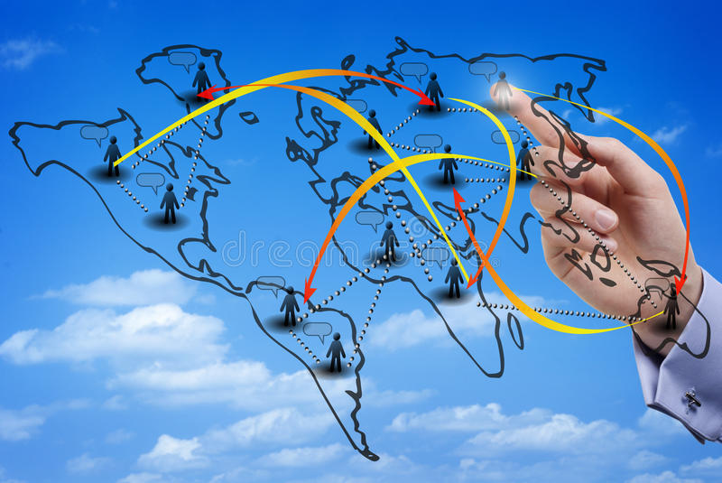 Download Virtual Map Of An International Social Network Stock Photo - Image: 31976612