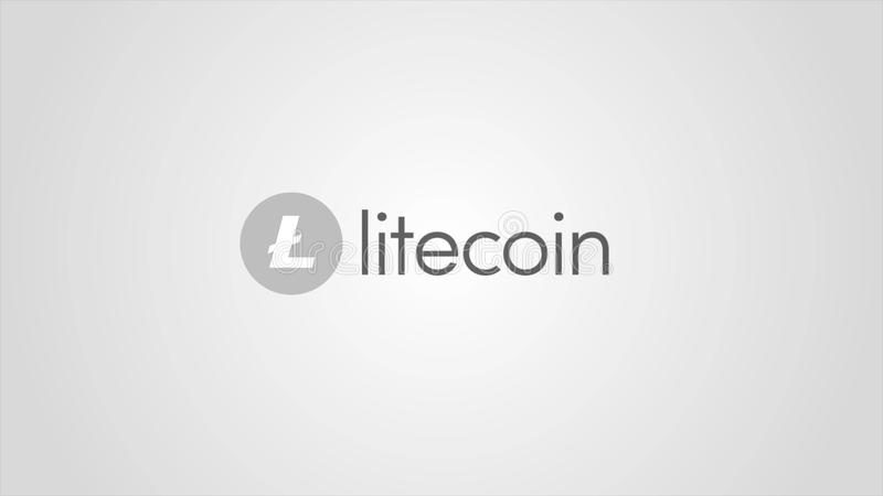 Virtual money Litecoin cryptocurrency - Litecoin LTC currency accepted here - sign on white background. Cryptocurrency vector illustration