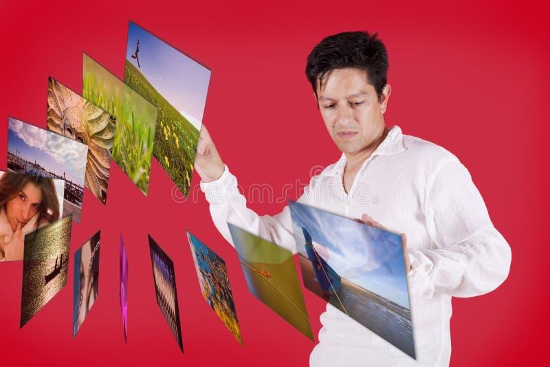 Virtual multimedia browsing stock image